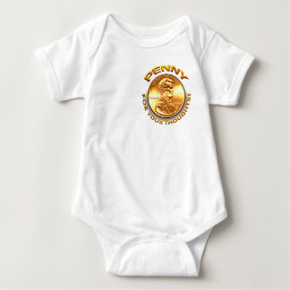 Penny for your thoughts! baby bodysuit