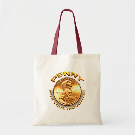 Penny for your thoughts! tote bag
