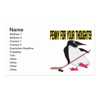 Penny For Your Thoughts Pack Of Standard Business Cards