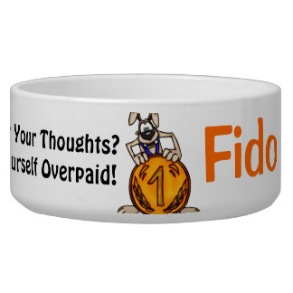 Penny For Your Thoughts Customized Dog Bowls