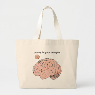 Penny  for your Thoughts Jumbo Tote Bag
