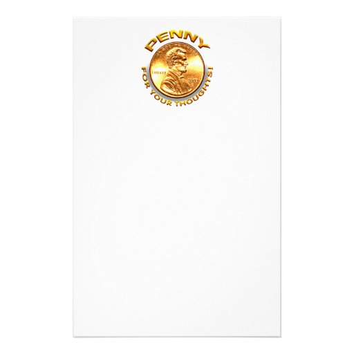 Penny for your thoughts! customized stationery