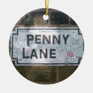 Penny Lane Street Sign Ceramic Ornament
