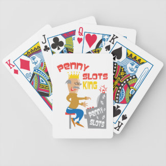 Penny Slots King Play to Win Bicycle Playing Cards