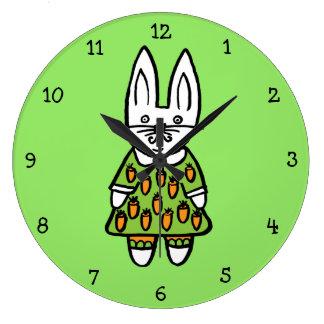 Penny the Rabbit Large Clock