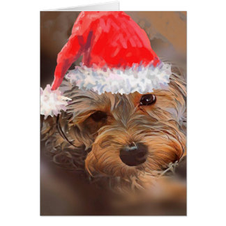 Penny the Yorkipoo Holiday Card