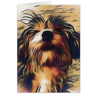 Penny the Yorkipoo Notecard