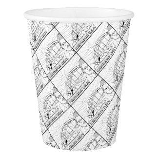 Pennybacker Bridge Line Art Design Paper Cup