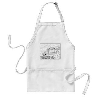 Pennybacker Bridge Line Art Design Standard Apron