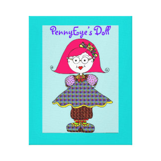 PennyEye's Doll Wrapped Canvas Stretched Canvas Print