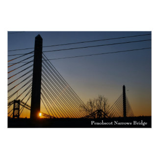 Penobscot Narrows Bridge Poster - 1