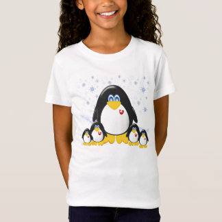 Penquin Party Girls Baby Doll (Fitted) T-Shirt