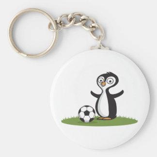Penquin Soccer Key Ring