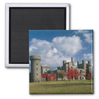 Penrhyn Castle, Gwynedd, Wales Square Magnet