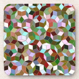 Penrose Tiling Plastic Coasters