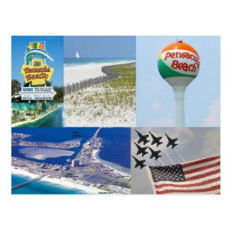 pensacola beach florida postcard