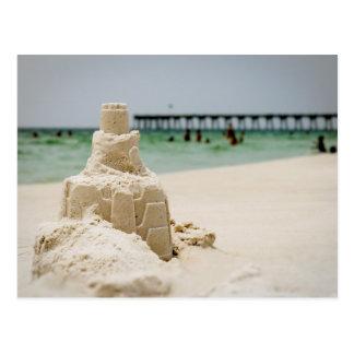 Pensacola Beach Sandcastle Postcard