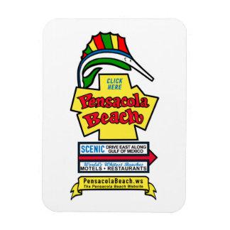 Pensacola Beach Sign Flexible Magnet