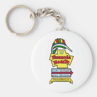 Pensacola Beach Sign Keychain