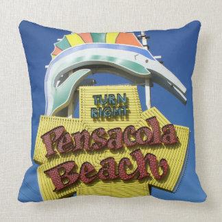 Pensacola Beach Sign Pillow