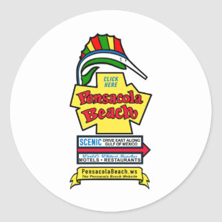 Pensacola Beach Sign Stickers