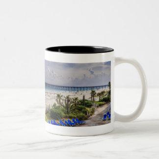 Pensacola Beach Two-Tone Coffee Mug