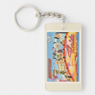 Pensacola Florida FL Old Vintage Travel Souvenir Key Ring