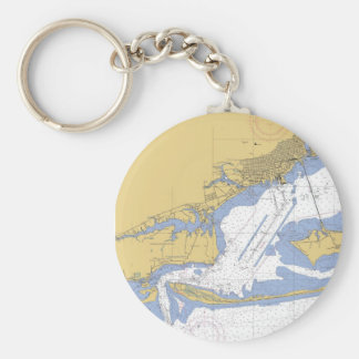 Pensacola, Florida Nautical Harbor Chart Keychain