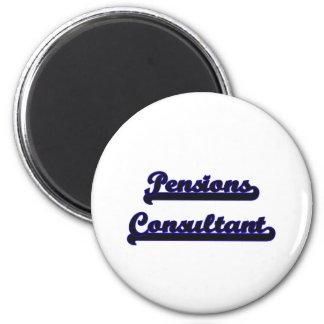 Pensions Consultant Classic Job Design 6 Cm Round Magnet