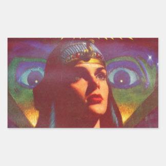 Pensive Egyptian Queen Rectangular Sticker