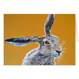 Pensive Hare Card. Card