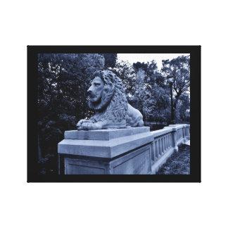 Pensive Lion Canvas Print