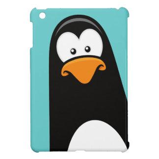 Pensive Penguin on Blue Case iPad Mini Cover