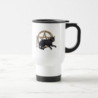 Pentacle Black Cat Travel Mug