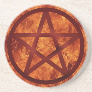 Pentacle - Fire Drink Coaster