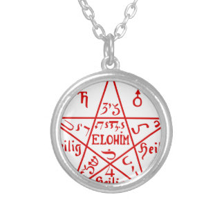 Pentacle_from_the_Sixth_Book_of_Moses Silver Plated Necklace