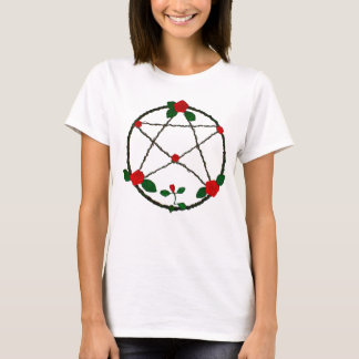 Pentacle of Vines and Red Roses Women's T-Shirt