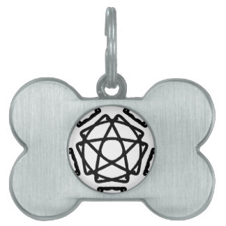 Pentacle Pentagram Design Pet Tags