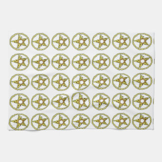 Pentacle Pizzas Tea Towel