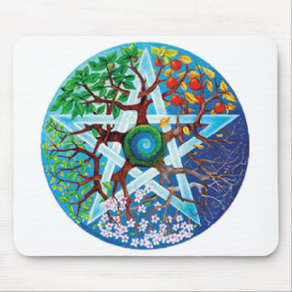pentacle-seasons 2 inch mouse pads