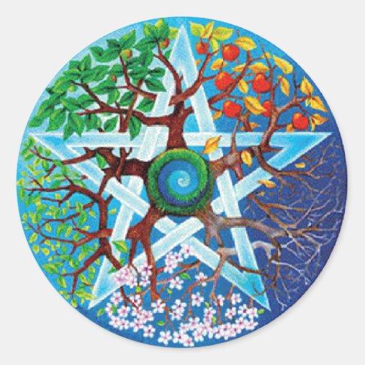 pentacle-seasons sticker