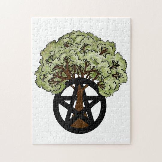 Pentacle Tree Jigsaw Puzzle