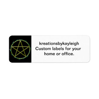 Pentacle with Leaves Return Address Label