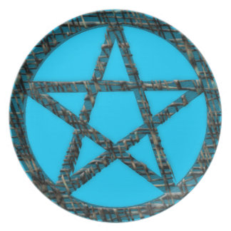 Pentacles: Aqua and Threads Plates