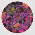 Pentacles: Violet Classic Round Sticker