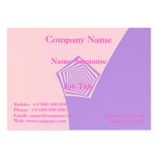 Pentagon Spiral in Pale Pink and Lavender Card Pack Of Chubby Business Cards