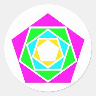 Pentagons of Pentagon Classic Round Sticker