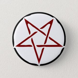 Pentagram 6 Cm Round Badge