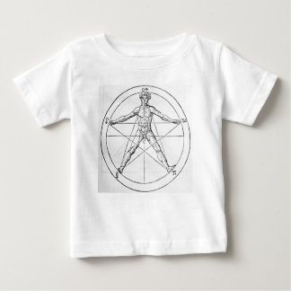 Pentagram_and_human_body_(Agrippa) Baby T-Shirt