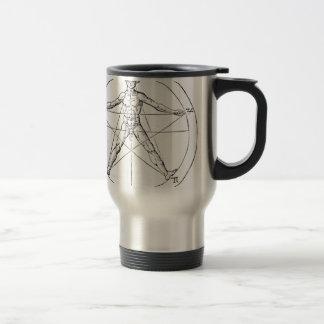 Pentagram_and_human_body_(Agrippa) Travel Mug